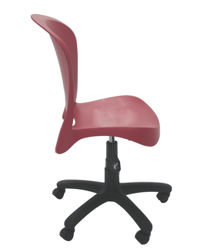 Cadeira Jolie com rodízio vermelha Tramontina 92070040