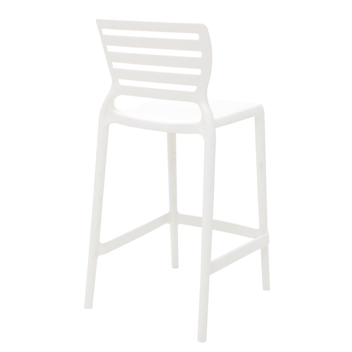 Banqueta Sofia Alta Branca em Polipropileno e Fibra de Vidro Tramontina 92127010