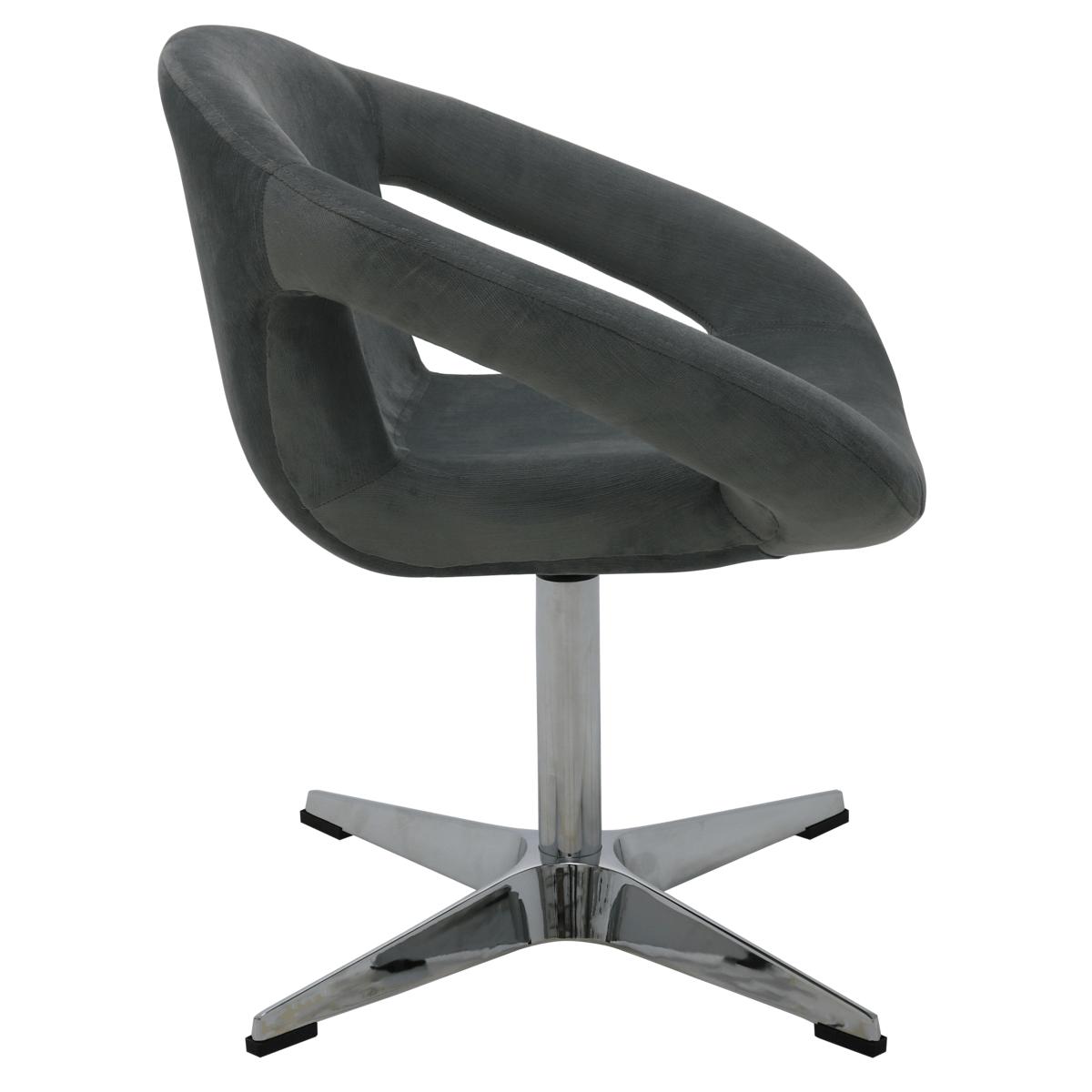 Cadeira Tramontina Delice Estofada Níquel em Polietileno com Base X 92705212
