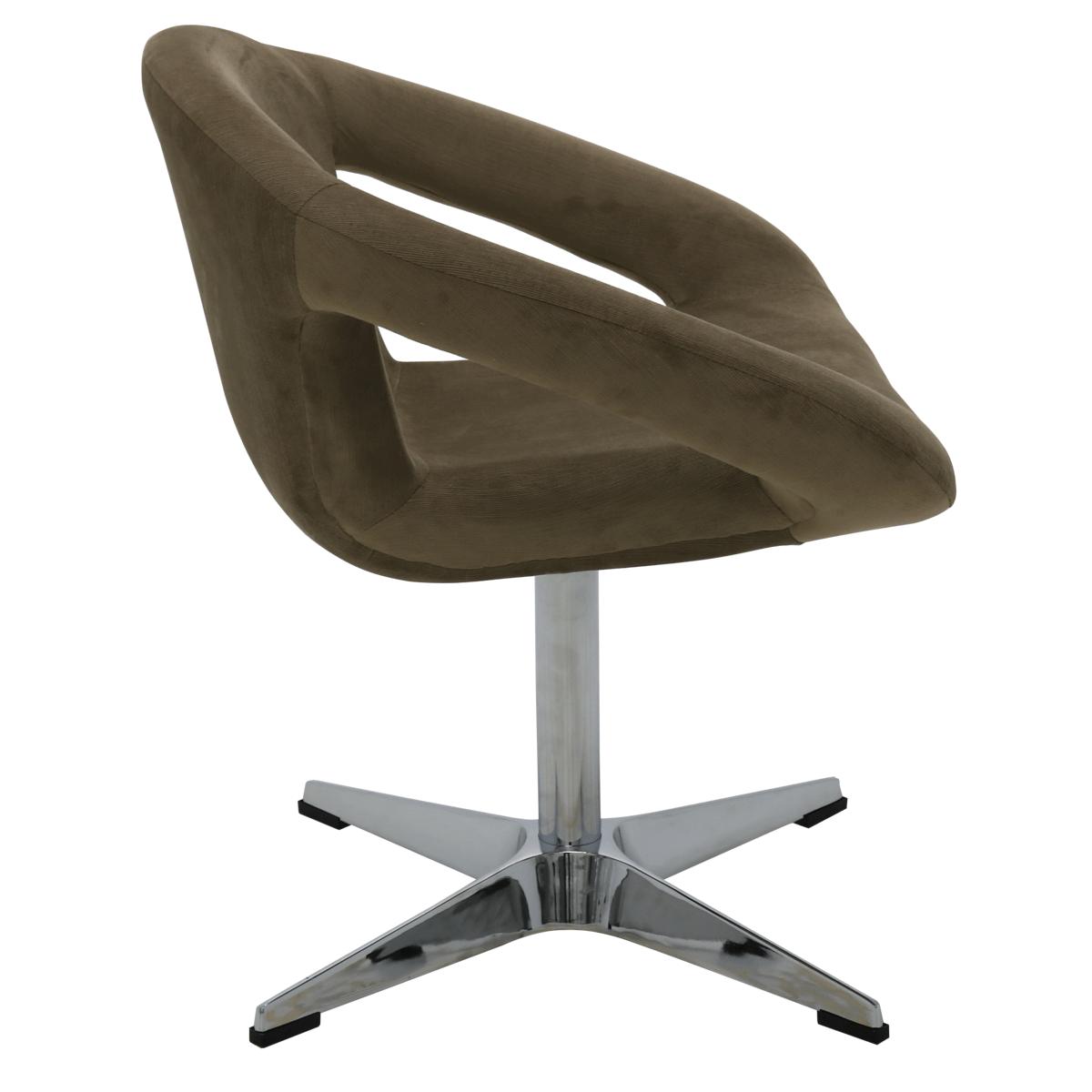 Cadeira Tramontina Delice Estofada Moca em Polietileno com Base X 92705213