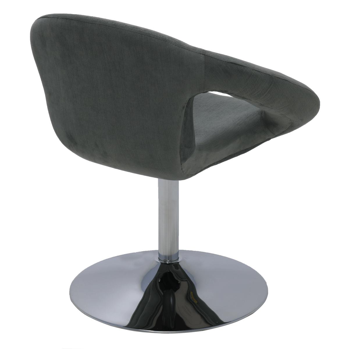 Cadeira Tramontina Delice Estofada Níquel em Polietileno com Base Central 92706212