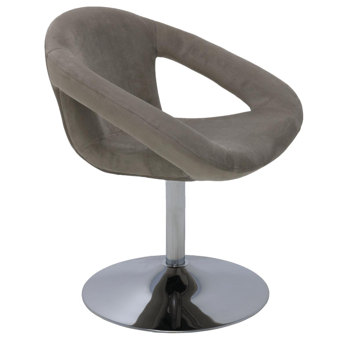 Cadeira Tramontina Delice Estofada Cinza em Polietileno com Base Central 92706211