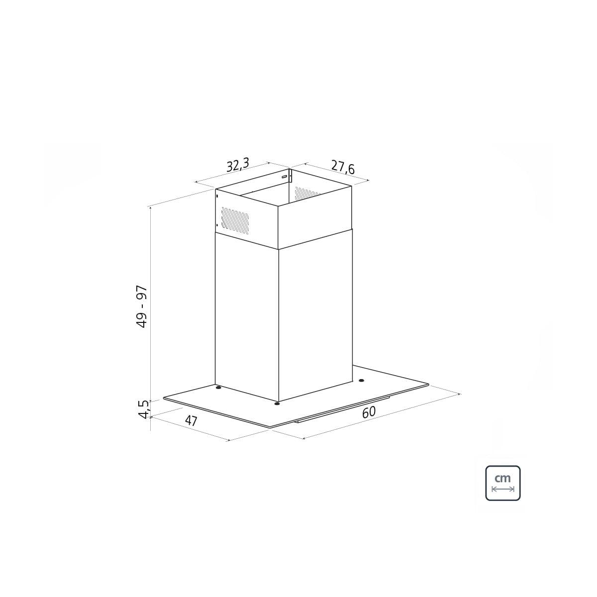 Coifa de Parede Tramontina Basic em Aço Inox 60 cm