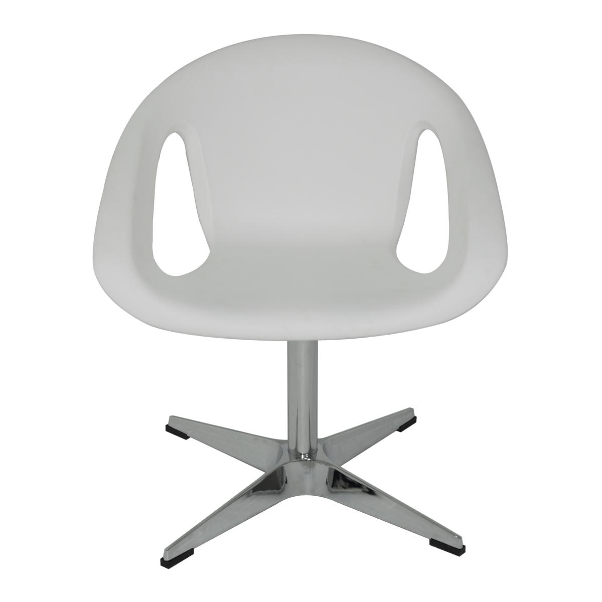 Cadeira Tramontina Delice Branca em Polietileno com base X 92705010