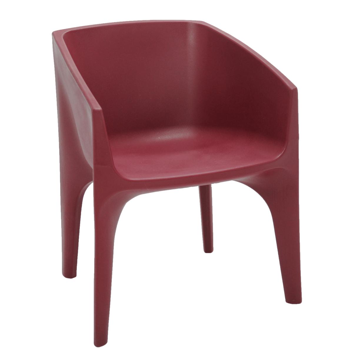 Cadeira Tramontina Paco Marsala em Polietileno com Braços 92715054