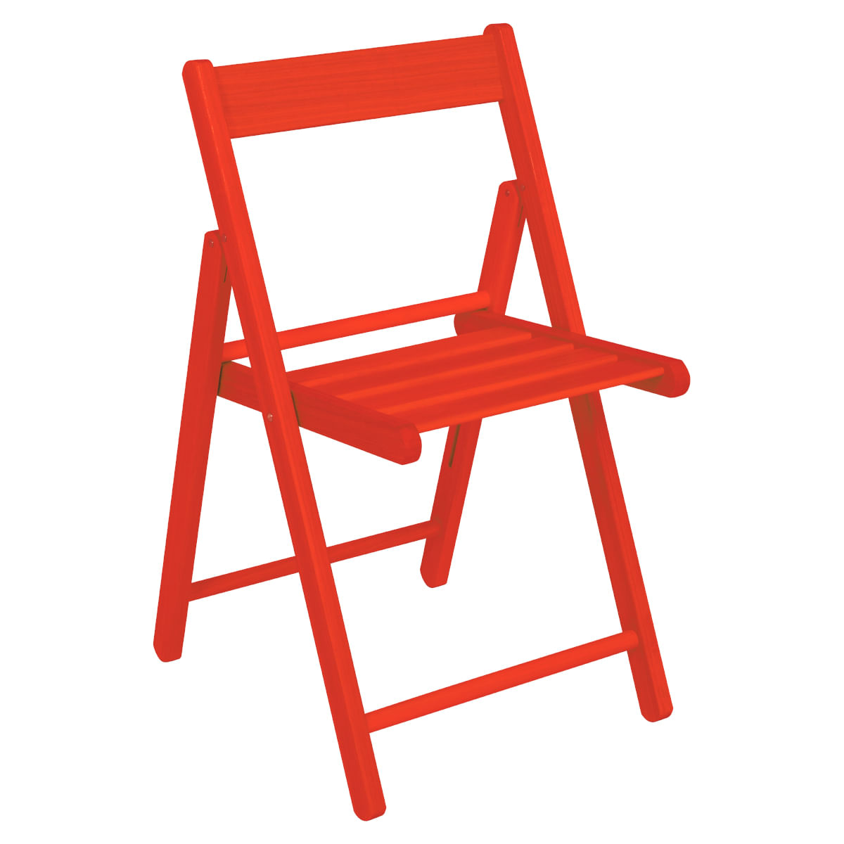Cadeira Tramontina Dobrável de Madeira Vermelha Aconchego