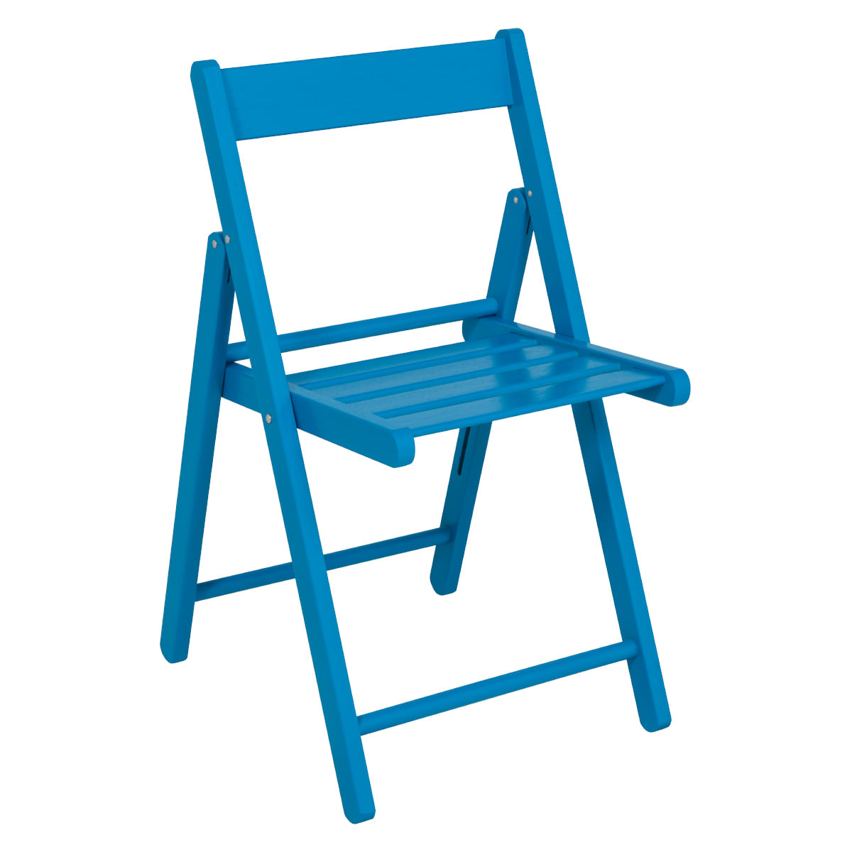 Cadeira Tramontina Dobrável de Madeira Azul Aconchego