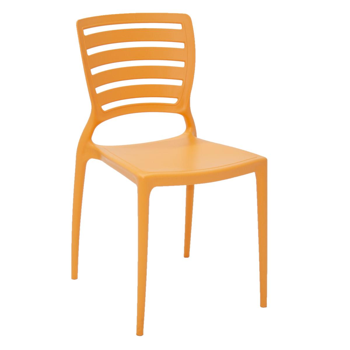 Cadeira Sofia encosto horizontal laranja Tramontina 92237090