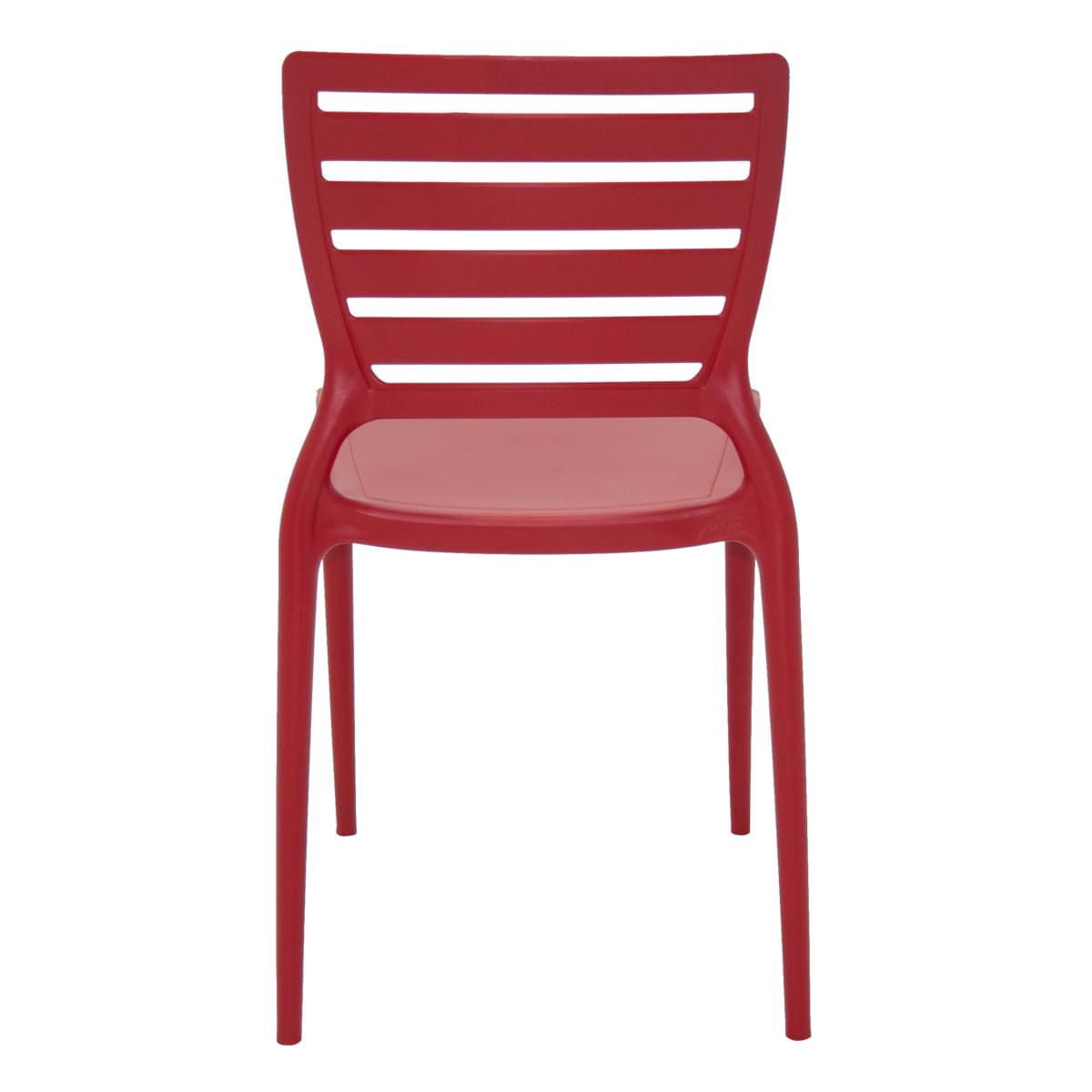 Cadeira Sofia encosto horizontal vermelha Tramontina 92237040