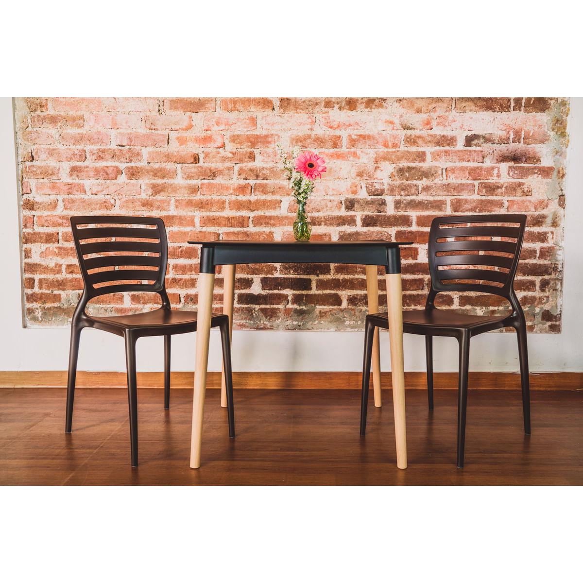 Cadeira Sofia encosto horizontal marrom Tramontina 92237109