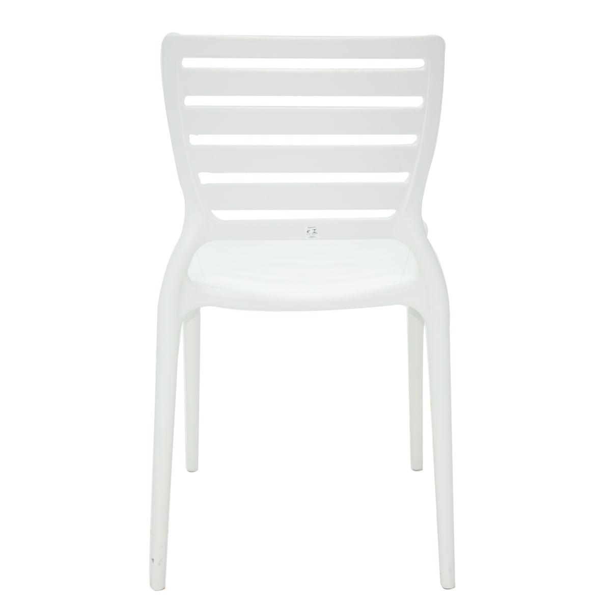 Cadeira Sofia encosto horizontal branca Tramontina 92237010