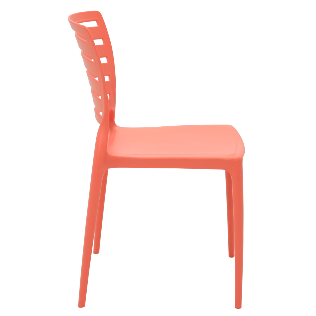 Cadeira Tramontina Sofia Rosa Coral Encosto Horizontal em Polipropileno e Fibra de Vidro