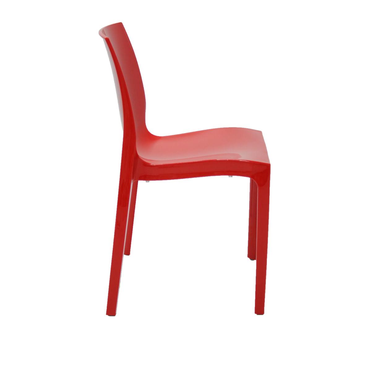Cadeira Tramontina Alice Polida Vermelha em Polipropileno