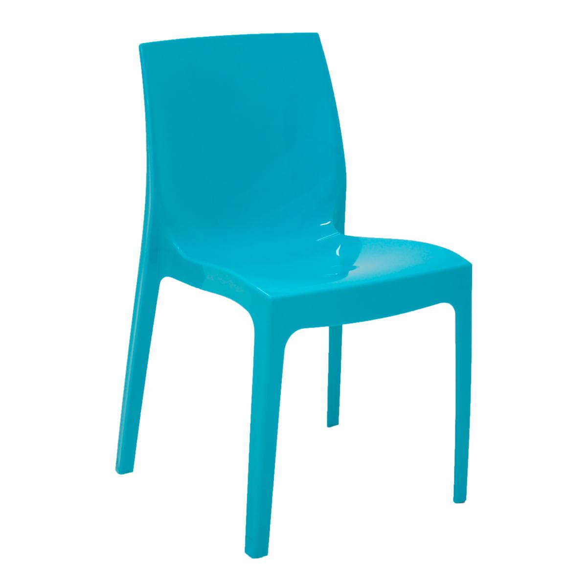 Cadeira Tramontina Alice Polida em Polipropileno Azul