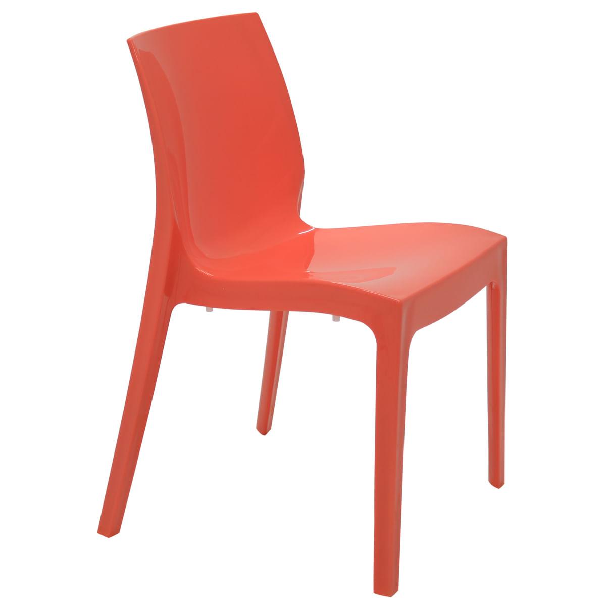 Cadeira Tramontina Alice Polida em Polipropileno Rosa Coral