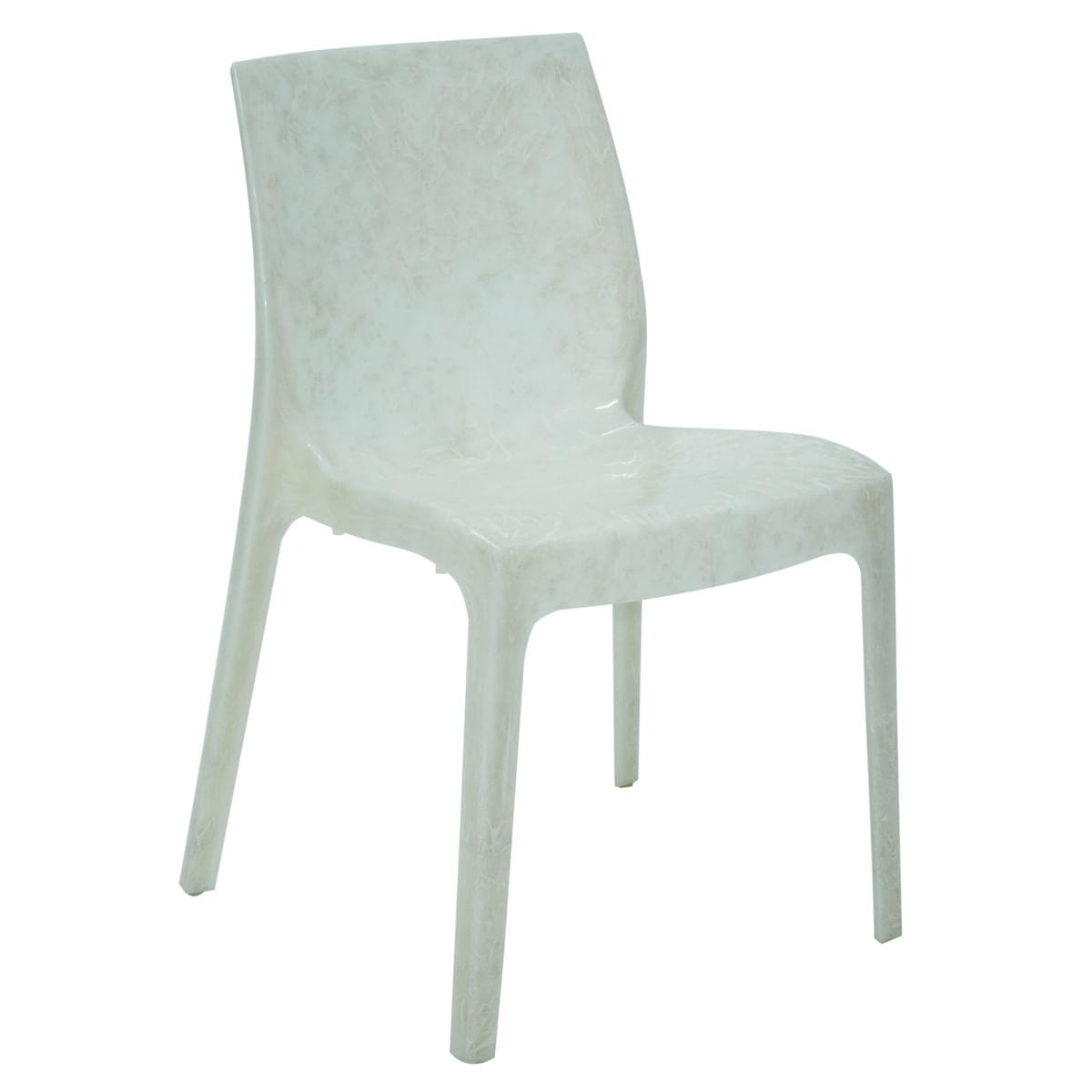 Cadeira Tramontina Alice em Polipropileno Pérola Branco