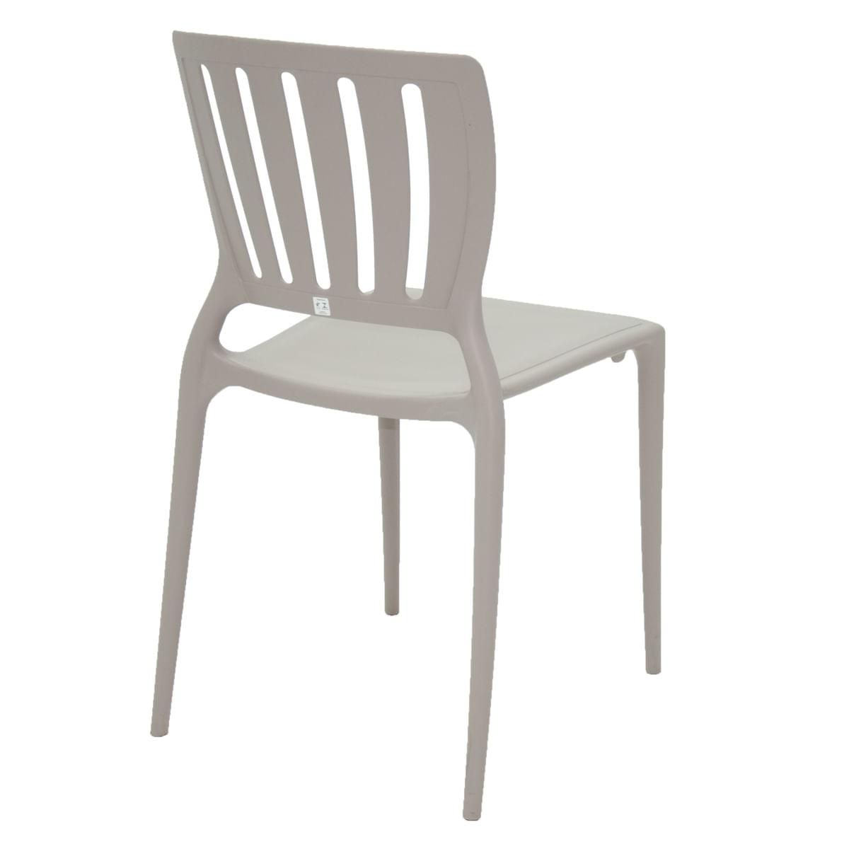 Cadeira Tramontina Sofia Concreto Encosto Vazado Vertical em Polipropileno e Fibra de Vidro