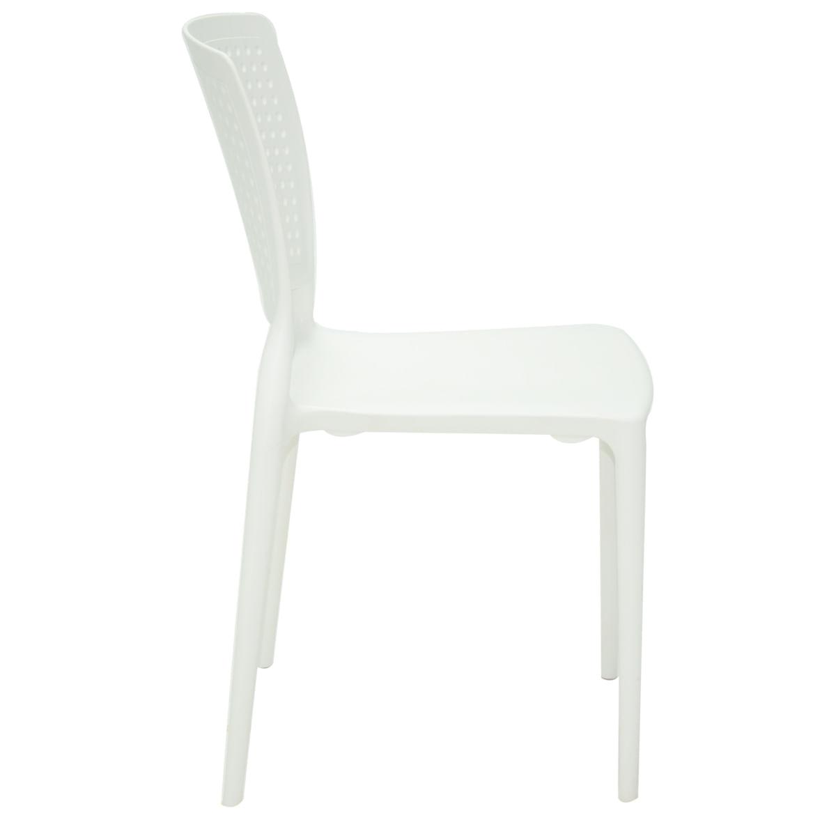 Cadeira Tramontina Safira Branca em Polipropileno e Fibra de Vidro