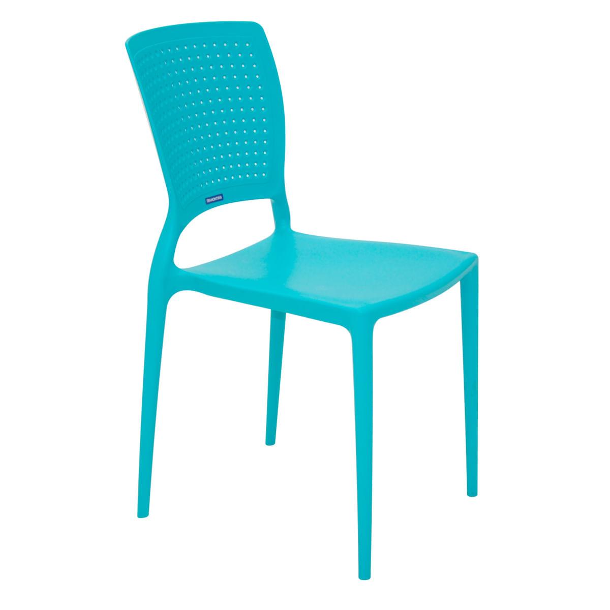 Cadeira Tramontina Safira Azul em Polipropileno e Fibra de Vidro