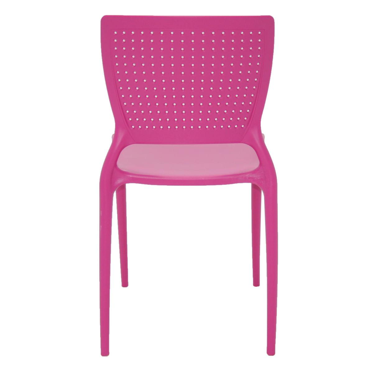 Cadeira Tramontina Safira Rosa em Polipropileno e Fibra de Vidro