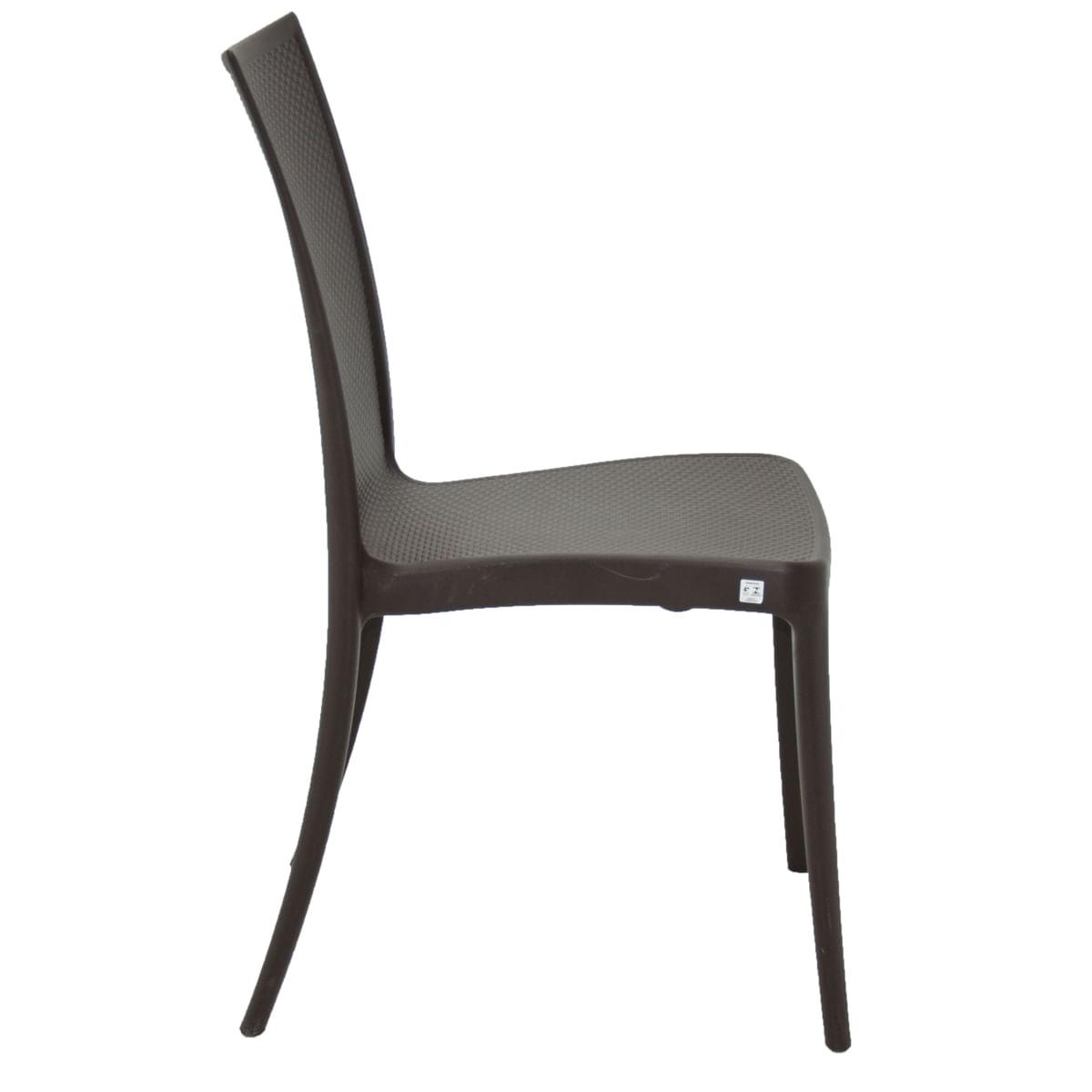 Cadeira Tramontina Laura Ratan Marrom em Polipropileno e Fibra de Vidro
