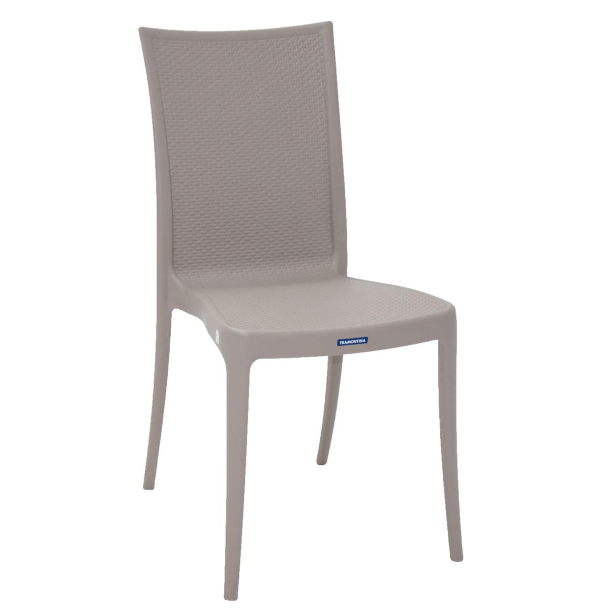 Cadeira Tramontina Laura Ratan Camurça em Polipropileno e Fibra de Vidro