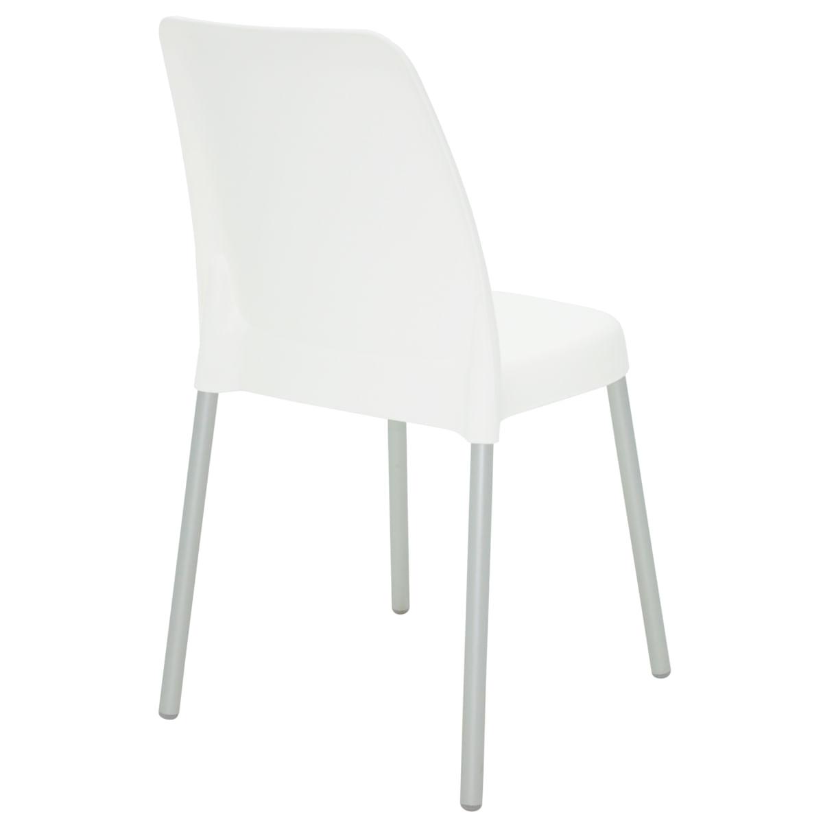 Cadeira Tramontina Vanda Branca em Polipropileno com Pernas em Alumínio