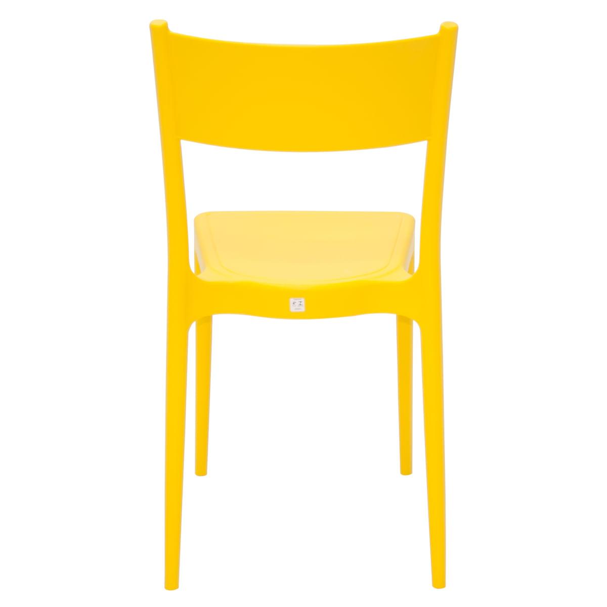 Cadeira Tramontina Diana Amarela em Polipropileno e Fibra de Vidro
