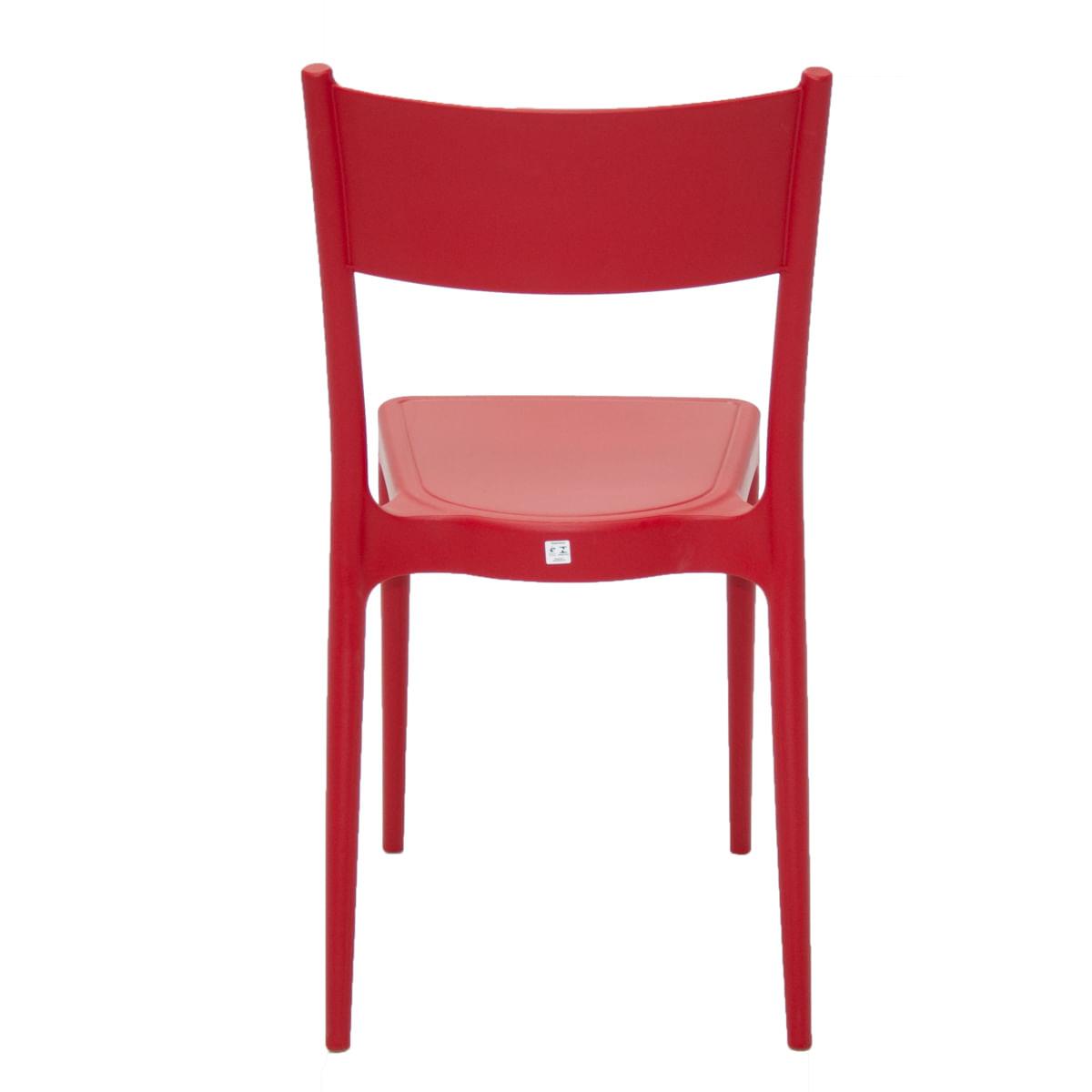 Cadeira Tramontina Diana Vermelha em Polipropileno e Fibra de Vidro
