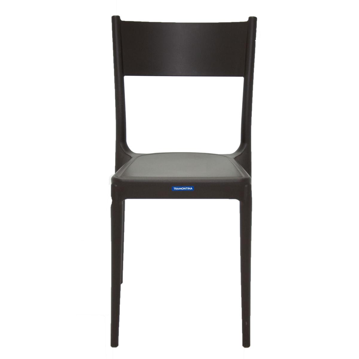 Cadeira Tramontina Diana Marrom em Polipropileno e Fibra de Vidro