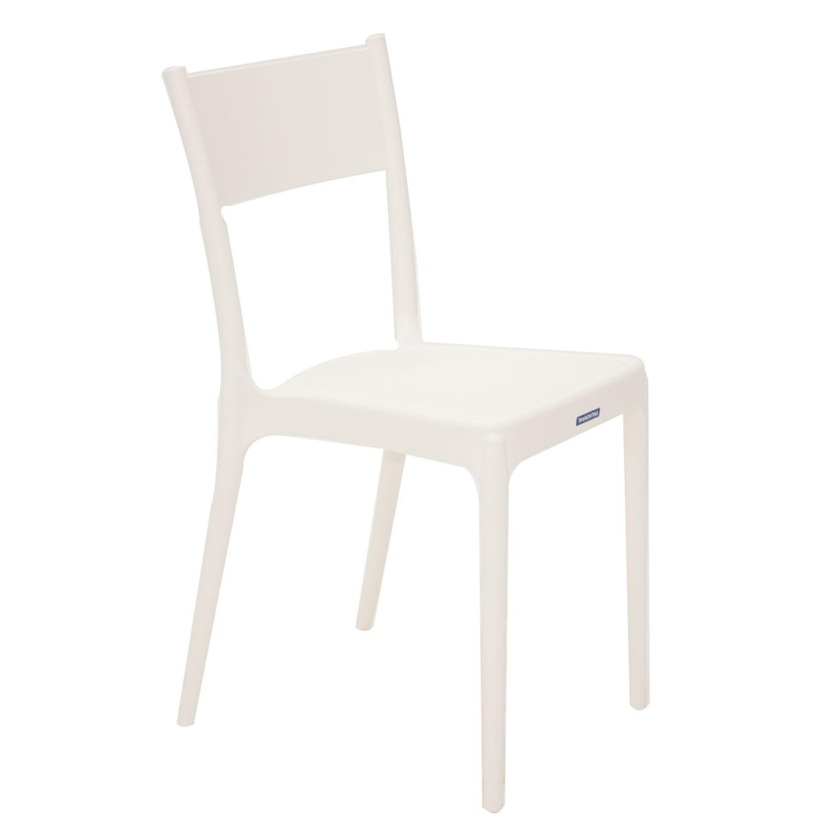 Cadeira Tramontina Diana Branca em Polipropileno e Fibra de Vidro