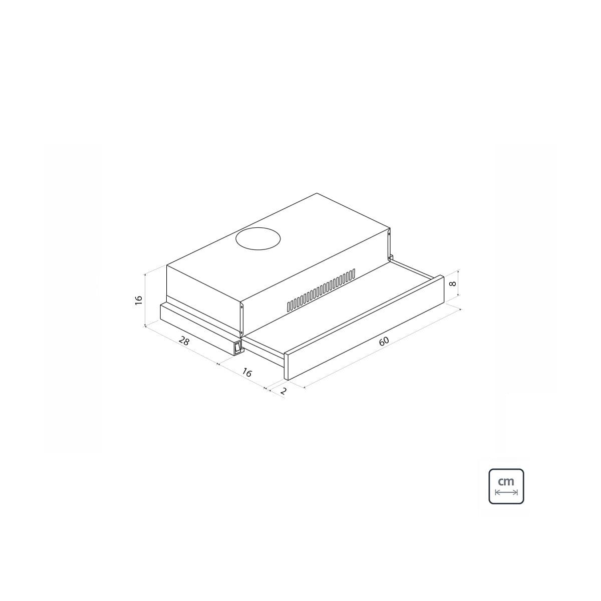 Depurador de Parede Retrátil Tramontina Slide em Aço Inox 60 cm