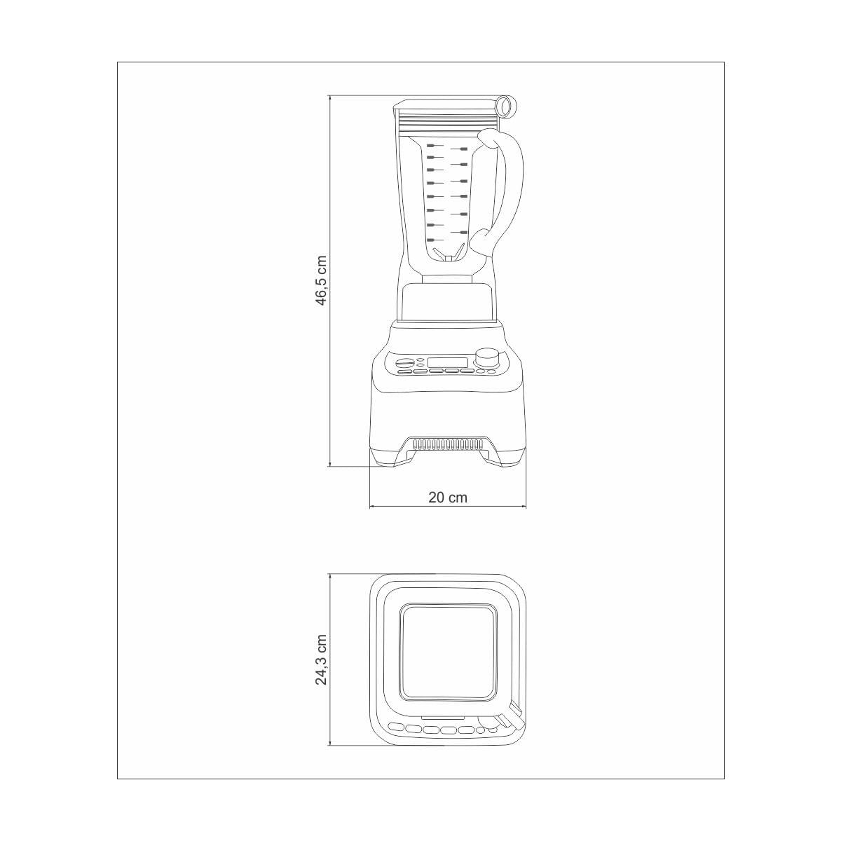 Liquidificador Tramontina by Breville Pro Chef em Alumínio Fundido Fosco com Copo de Tritan 2 L 2000 W