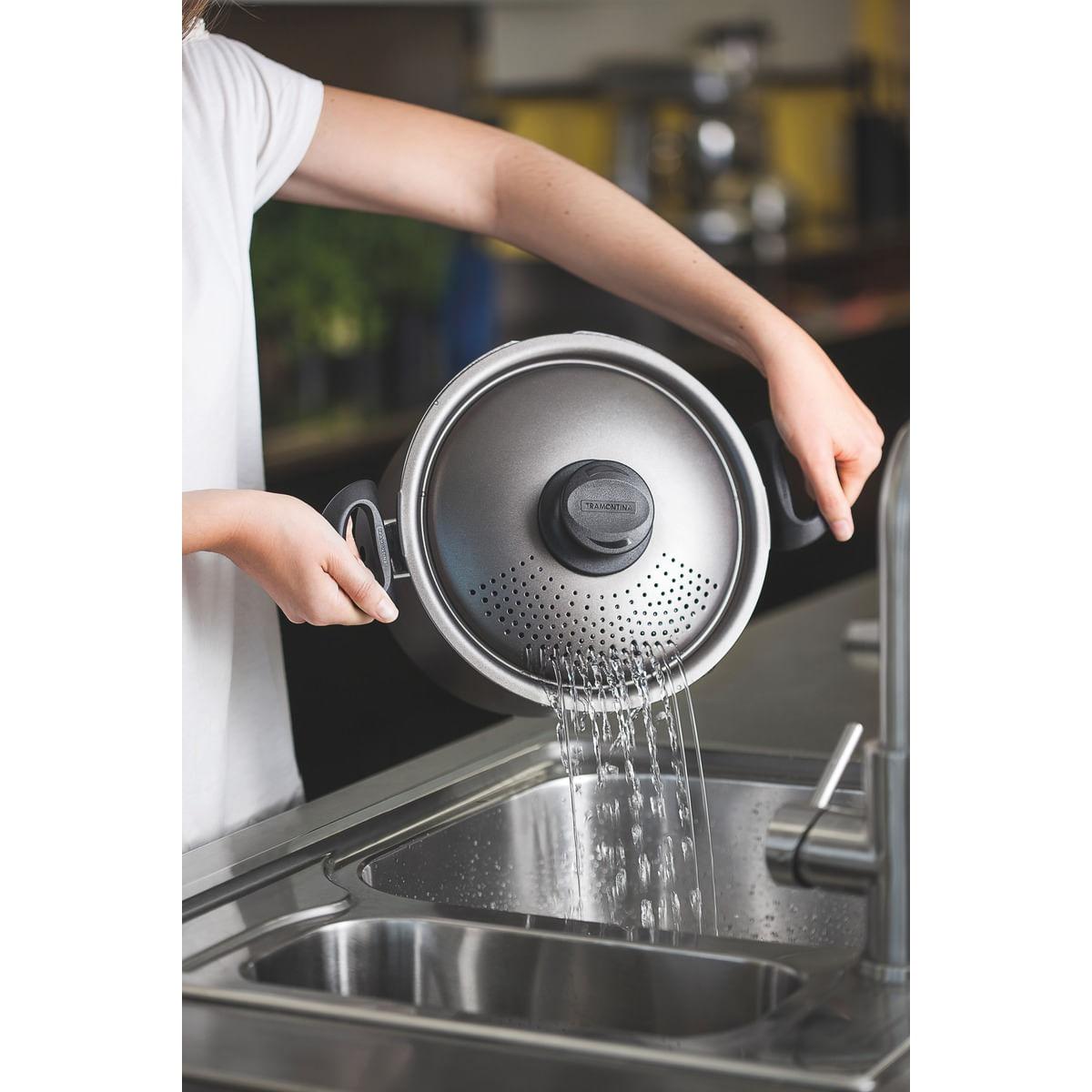 Espagueteira de Alumínio Antiaderente 20 cm Tramontina