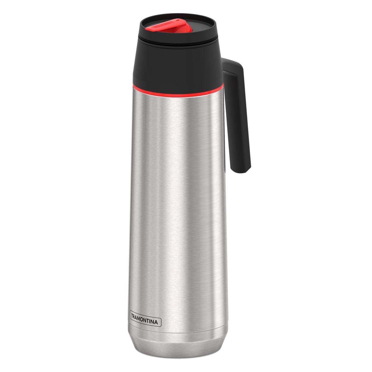 Garrafa Térmica Tramontina  1 Litro em Aço Inox com Ampola de Aço