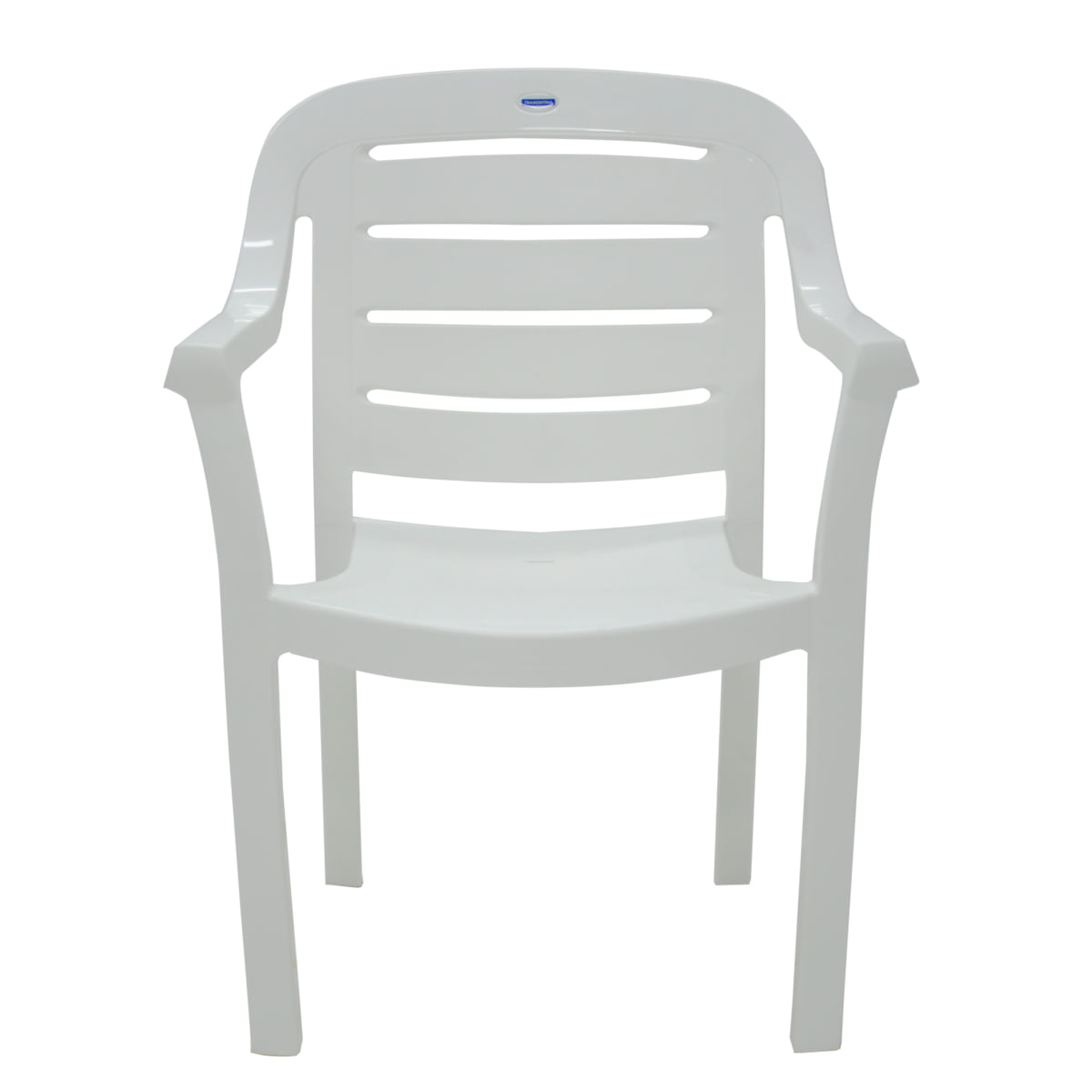 Cadeira Tramontina Miami Branco com Braços Encosto Horizontal em Polipropileno