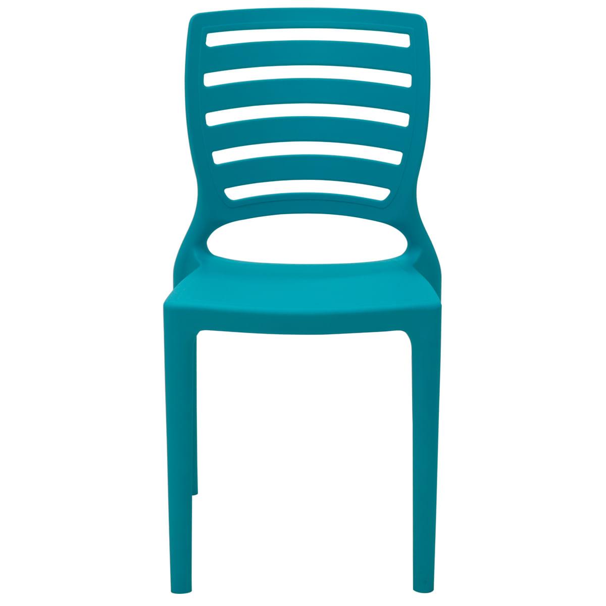 Cadeira Infantil Tramontina Sofia Azul em Polipropileno e Fibra de Vidro