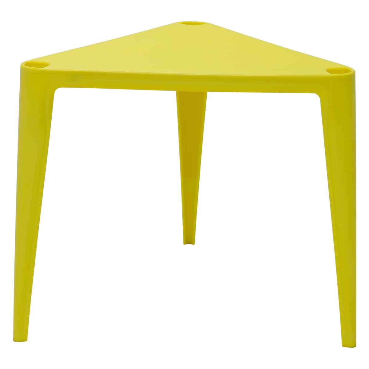 Conjunto de Mesa e Cadeira Tramontina Sofia Infantil Amarela em Polipropileno e Fibra de Vidro 2 Peças