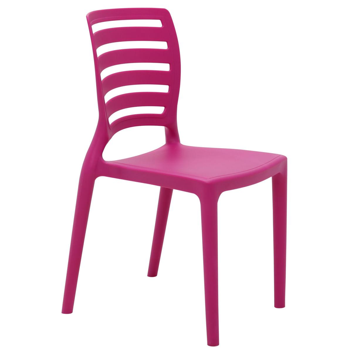 Conjunto de Mesa e Cadeira Tramontina Sofia Infantil Rosa em Polipropileno e Fibra de Vidro 2 Peças