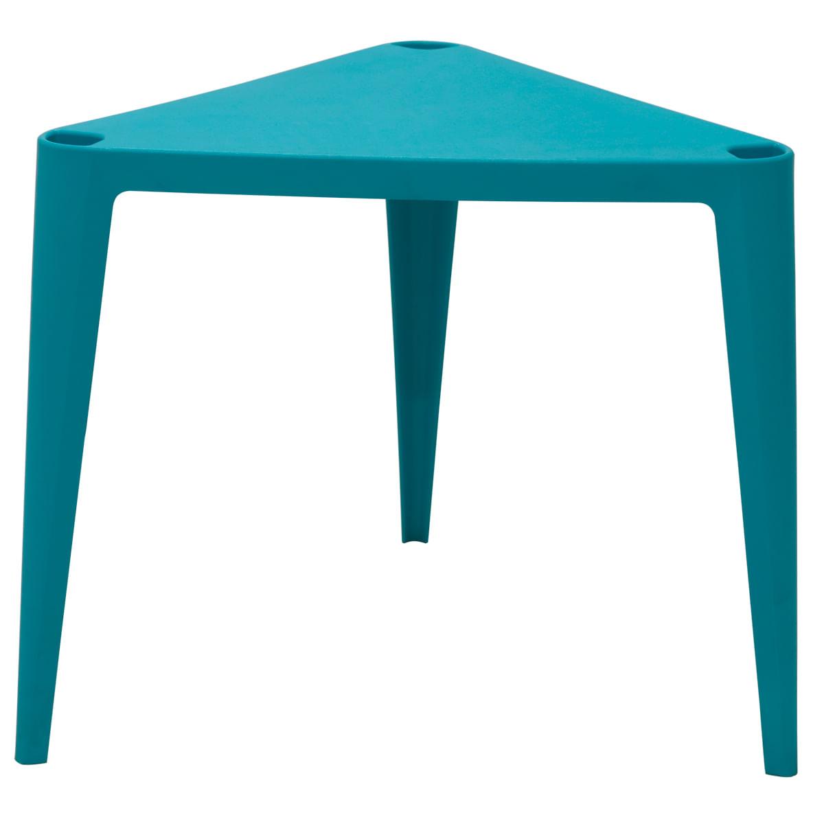 Conjunto de Mesa e Cadeira Tramontina Sofia Infantil Azul em Polipropileno e Fibra de Vidro 2 Peças