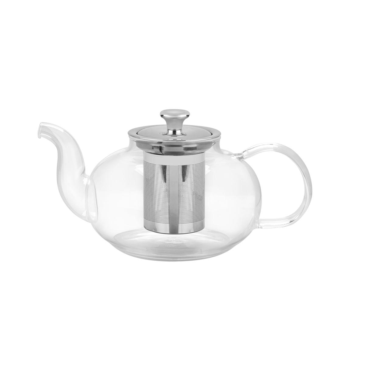 Bule para Chá Tramontina em Vidro e Aço Inox com Infusor 1 L