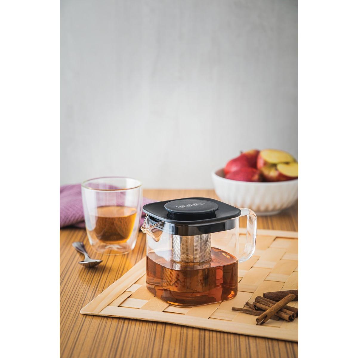 Bule para Chá Tramontina em Vidro e Aço Inox com Infusor 600 ml