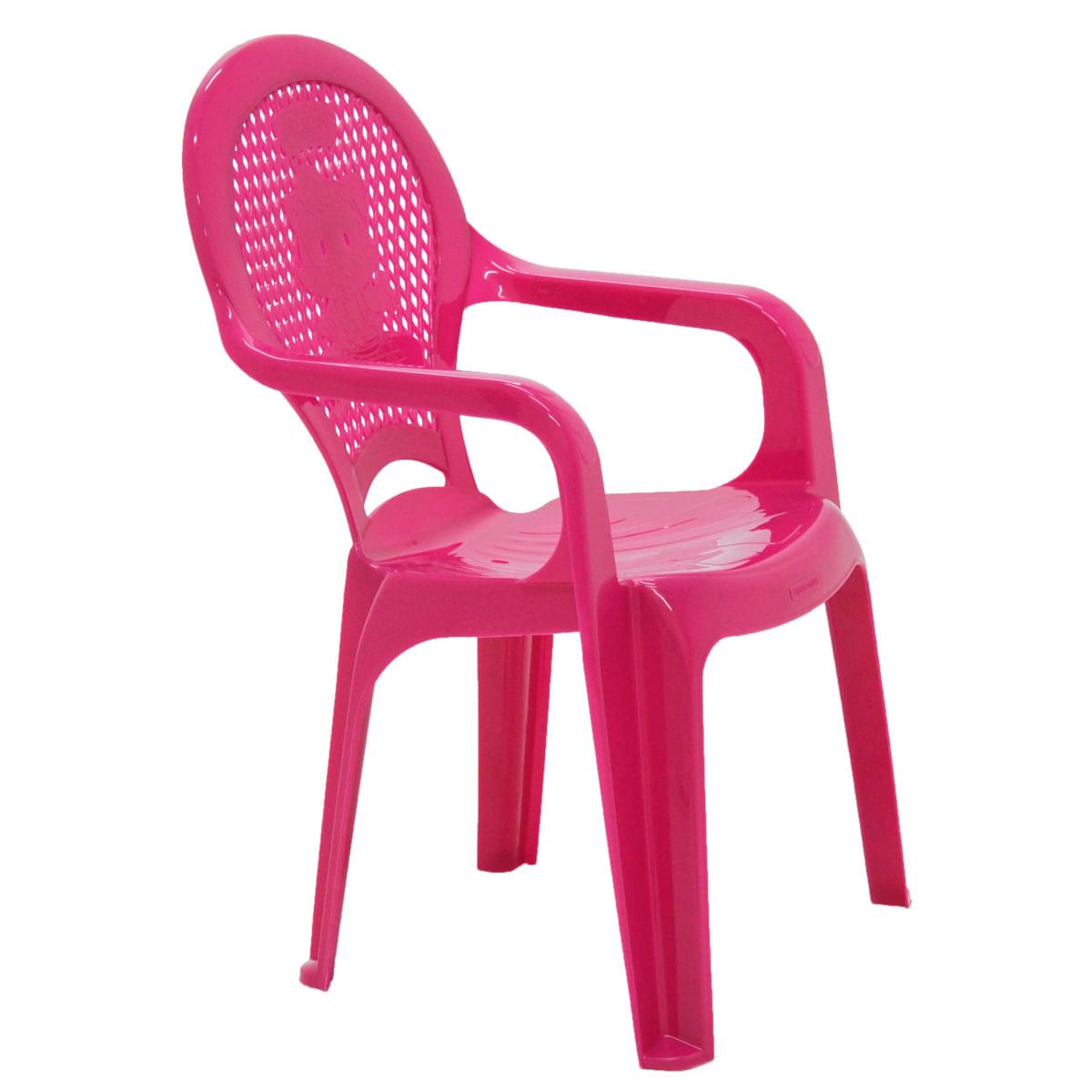 Cadeira Infantil Tramontina Catty Estampada em Polipropileno Rosa