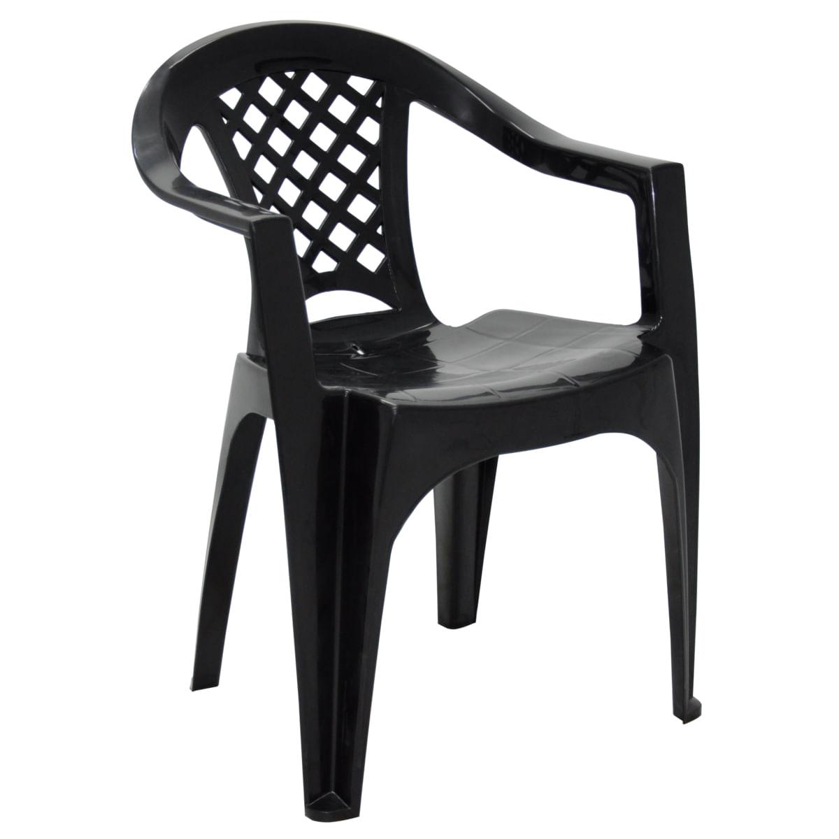 Cadeira Tramontina Iguape em Polipropileno Preto