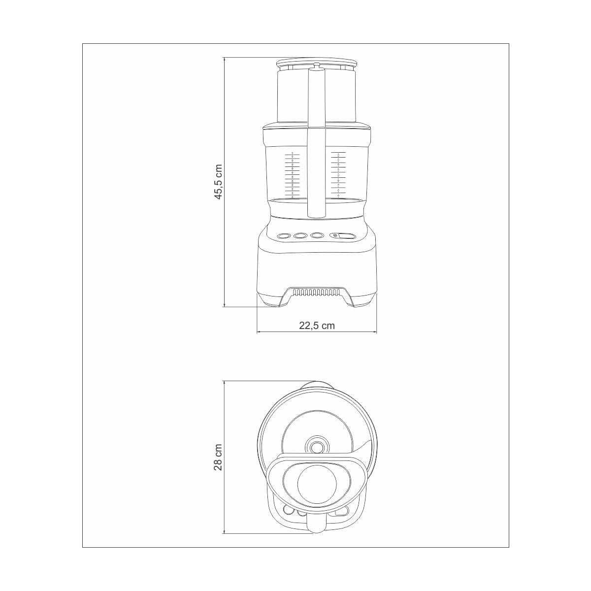 Multiprocessador Slice Pro 3,7 Litros 1200 Watts 110V Tramontina 69020011