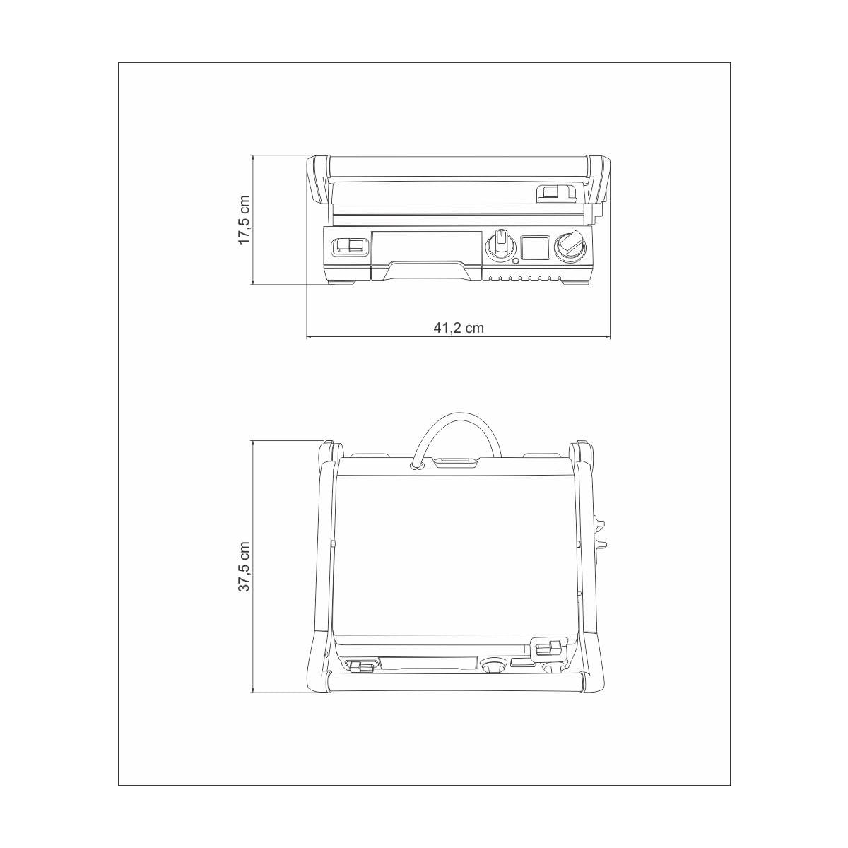 Grill Elétrico Tramontina by Breville Smart em Aço Inox com Display LCD 220 V