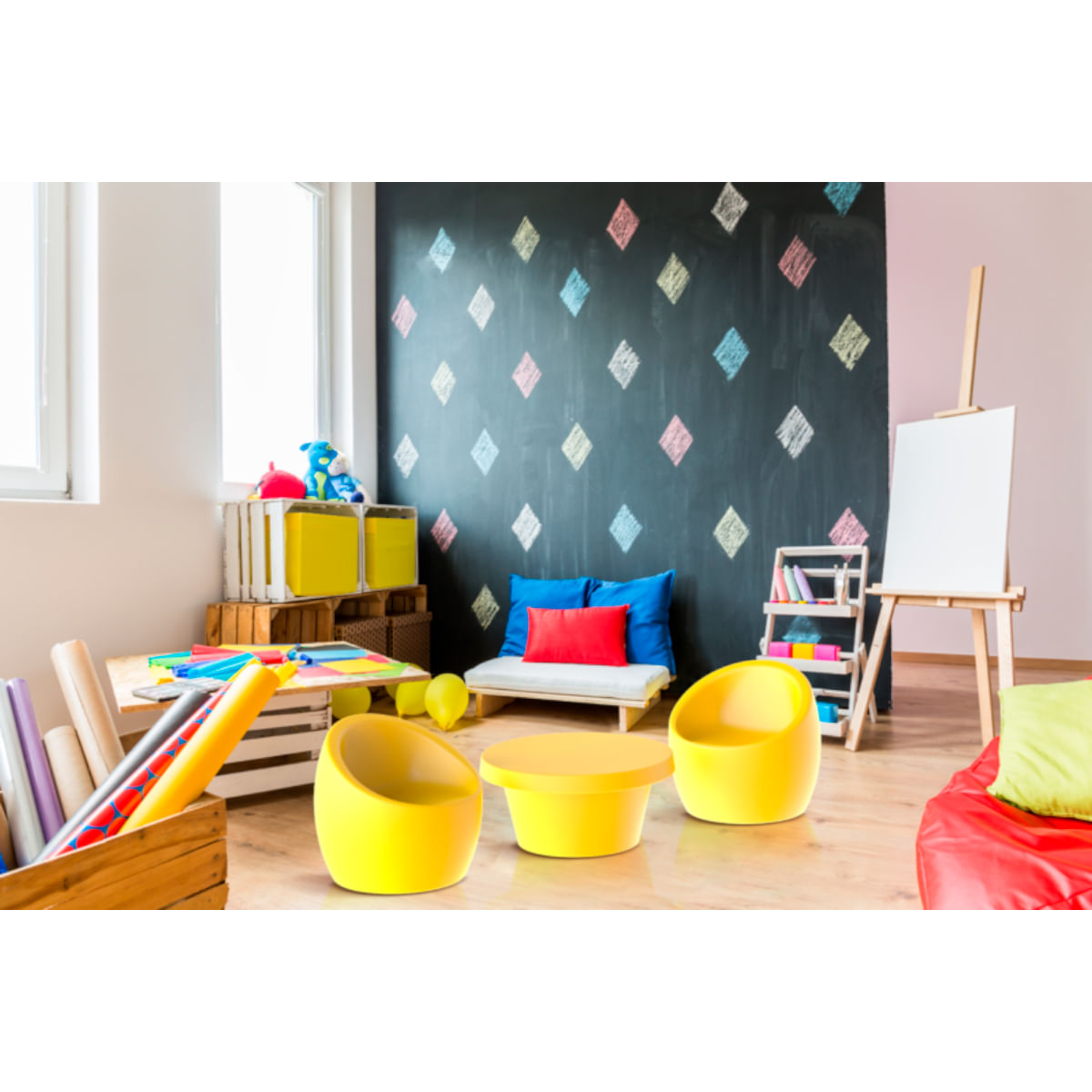 Mesa de Centro Infantil Tramontina Cona em Polietileno Amarelo