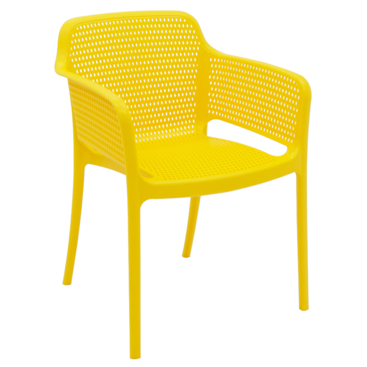 Cadeira Tramontina Gabriela Amarela em Polipropileno e Fibra de Vidro