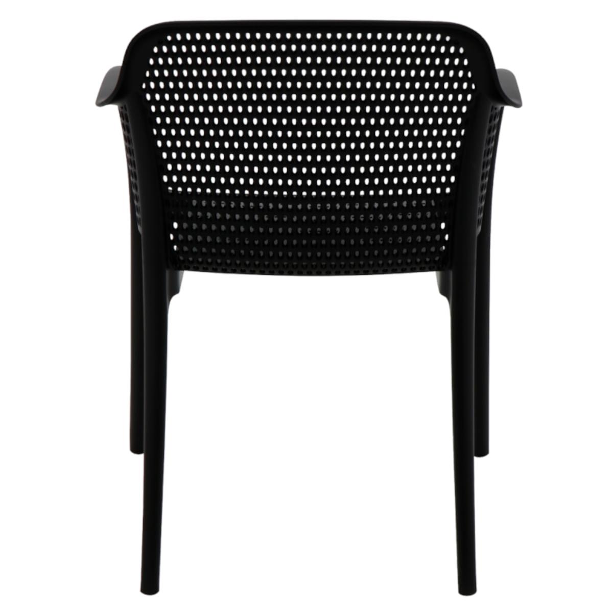 Cadeira Tramontina Gabriela Preta em Polipropileno e Fibra de Vidro