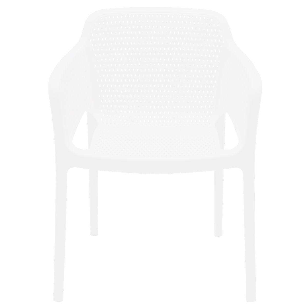 Cadeira Tramontina Gabriela Branca em Polipropileno e Fibra de Vidro